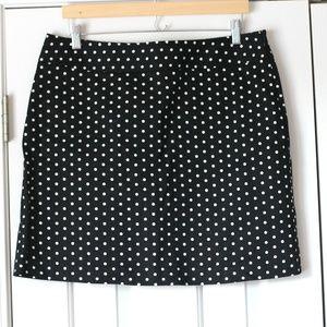 Rafaella black and white polka dot mini skirt